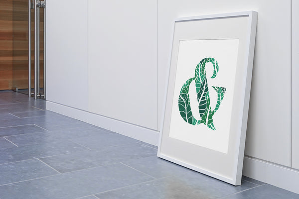 Tropical Ampersand Poster