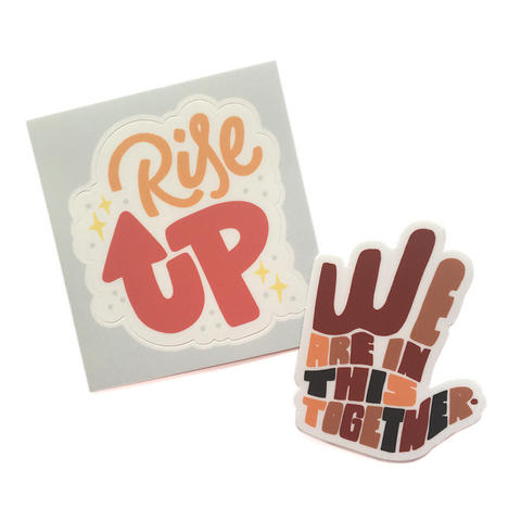 Together We Rise Sticker Pack - 2 Stickers