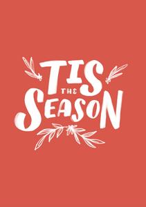 Tis The Season - Red  3.5x5 Card with envelope