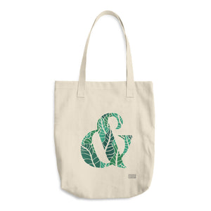 Tropical Ampersand Cotton Tote Bag