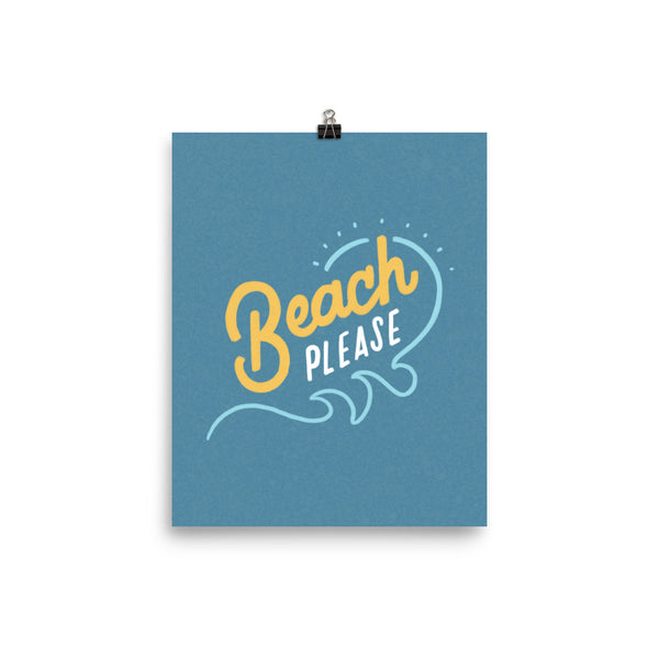 Beach Please Poster