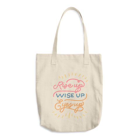 Wise Up Cotton Tote Bag