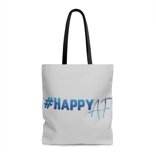 Happy AF w/Vibration Snob Logo - Tote Bag | 3 Sizes