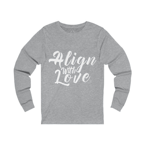 Align With Love - Women's Unisex Fit Jersey Long Sleeve Tee