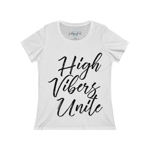 High Vibers Unite - Women's Relaxed Jersey Short Sleeve Scoop Neck Tee