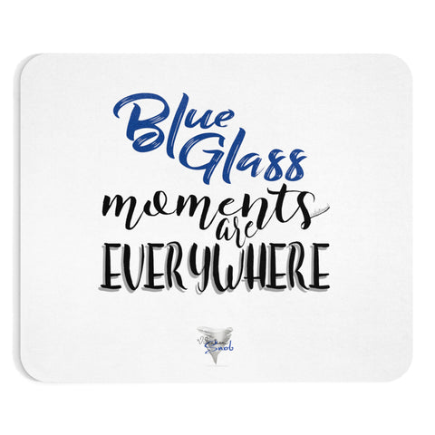 Blue Glass Moments - Mousepad
