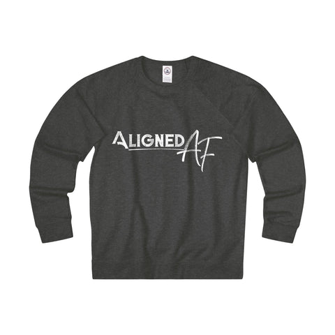 Aligned AF - Men's French Terry Crew Sweatshirt