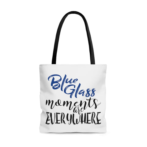 Blue Glass Moments - Tote Bag