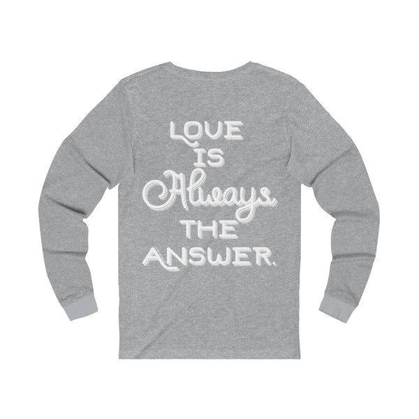 Love Is Always The Answer - Men's Jersey Long Sleeve Tee
