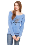 Let's Rendezvous - Women's Cozy Sponge Fleece Wide Neck Sweatshirt
