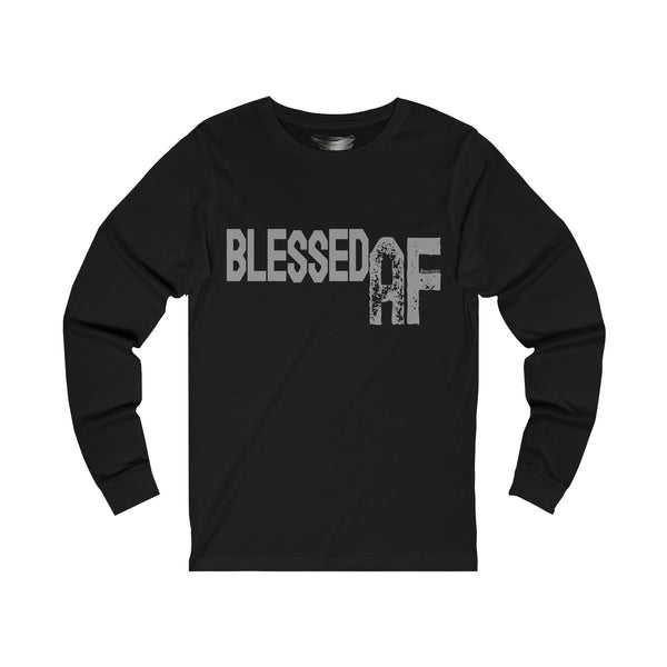 Blessed AF - Men's Jersey Crew Neck Long Sleeve Tee
