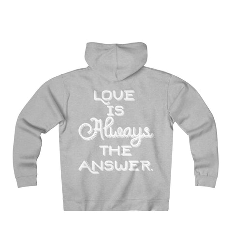 Love Is Always The Answer - Men's Heavyweight Fleece Zip Hoodie