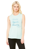 Tuned In. Tapped In. Turned On. - Women's Flowy Scoop Muscle Tank