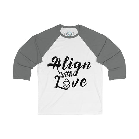 Align With Love - Women's Unisex Fi 3/4 Sleeve Baseball Tee