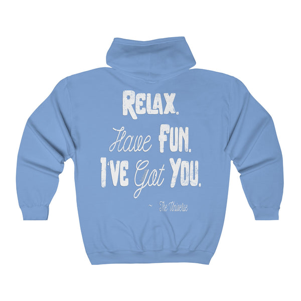 Relax. Have Fun. I've Got You. - Men's Full Zip Hooded Sweatshirt