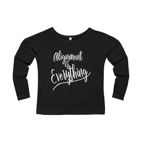 Alignment Is Everything - Women's Terry Long Sleeve Scoop Neck Tee