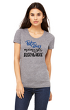 Blue Glass Moments - Women's Fitted Triblend Crew Neck Short Sleeve T-Shirt