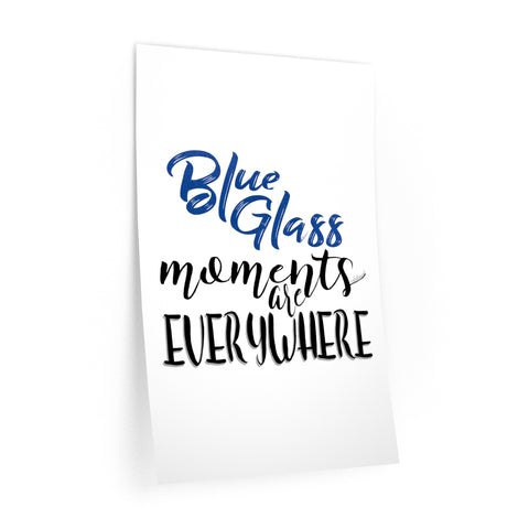 Blue Glass Moments - Wall Decals