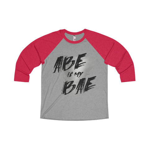 Abe Is My Bae - Men's 3/4 Sleeve Raglan Tee
