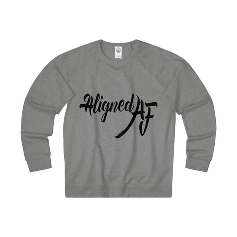 Aligned AF - Women's Unisex Fit French Terry Crew Sweatshirt
