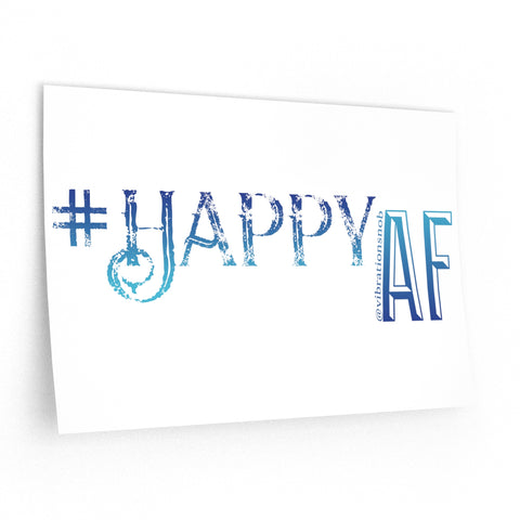 Happy AF - Wall Decals