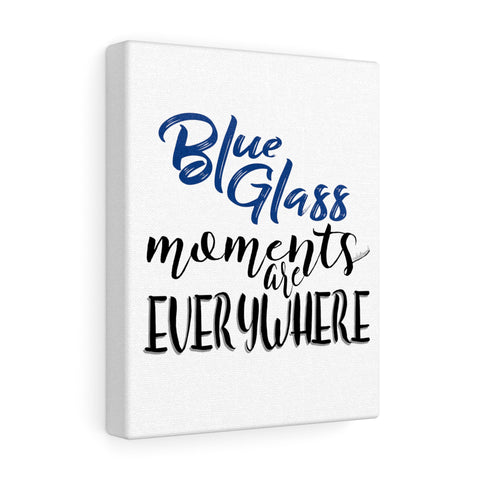 Blue Glass Moments - Canvas Gallery Wraps | 5 Sizes