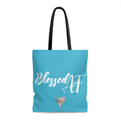 Blessed AF w/Vibration Snob Logo - Tote Bag | 3 Sizes