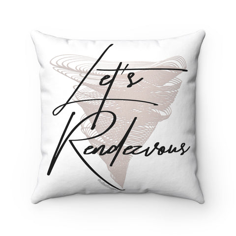 Let's Rendezvous w/Vibration Snob Logo - Spun Polyester Square Pillow