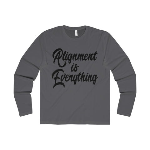 Alignment Is Everything - Men's Premium Long Sleeve Crew Tee
