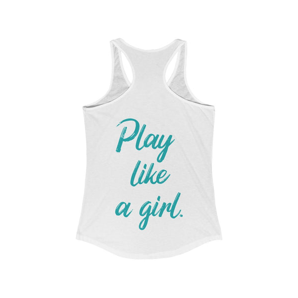 Softball Sisters | Play Like a Girl | Racer Tank