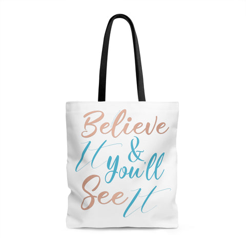 Believe It w/Vibration Snob Logo - Tote Bag | 3 Sizes