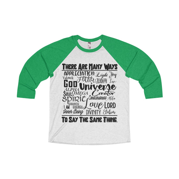Many Ways - Men's Tri-Blend 3/4 Sleeve Raglan