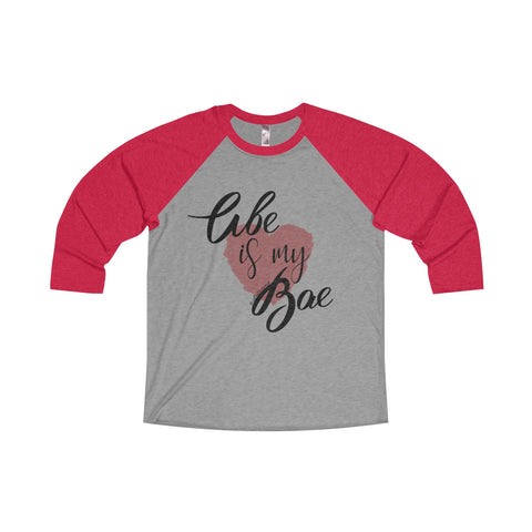 Abe Is My Bae - Women's Unisex 3/4 Sleeve Raglan Tee