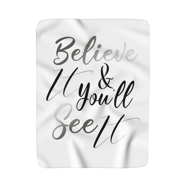 Believe It - Sherpa Fleece Blanket