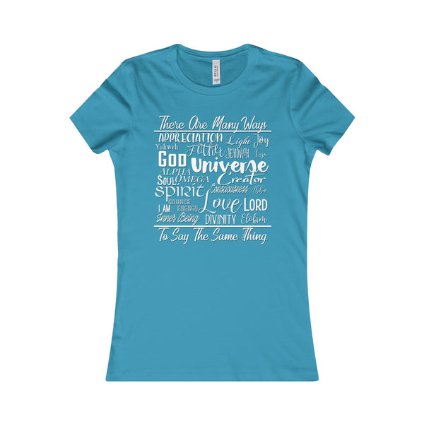 Many Ways - Women's Fitted Crew Neck Tee