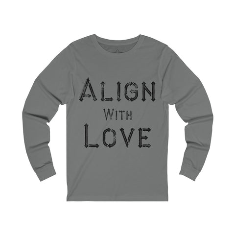 Align With Love - Men's Jersey Long Sleeve Tee