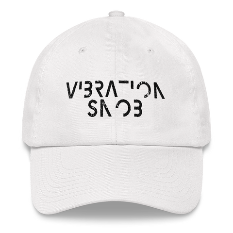 Vibration Snob Logo - Low Profile Twill Hat