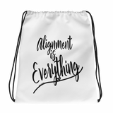 Alignment Is Everything - Drawstring bag