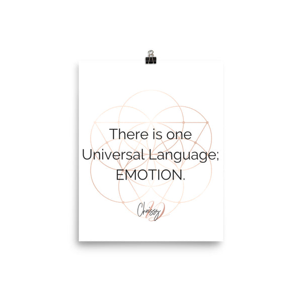 One Universal Language by Chrissy D - Poster