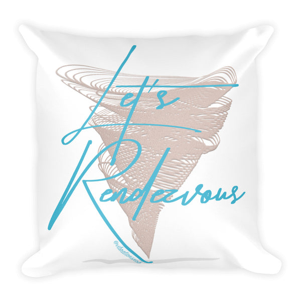 Let's Rendezvous w/Vibration Snob Logo - Double-Sided Square Throw PillowSquare Pillow
