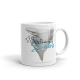 Blue Glass & Vibration Snob Logo - Mug