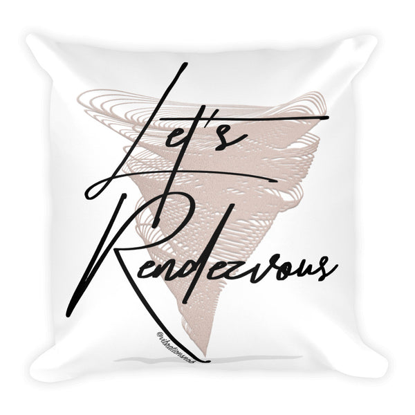Let's Rendezvous w/Vibration Snob Logo - Double-Sided Square Throw Pillow