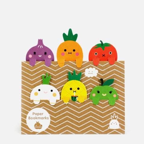 FRUIT & VEG BOOKMARK SET