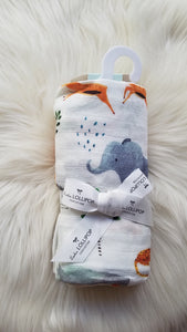 SAFARI JUNGLE SWADDLE BLANKET