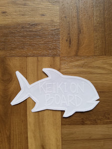 ULUA KEIKI ON BOARD WHITE VINYL STICKER