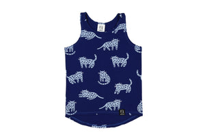 Tank Top - Berry Blue Cheetah