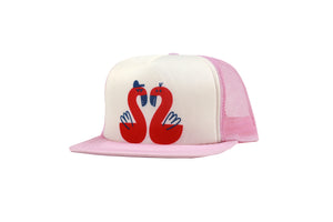 TRUCKER HAT - PINK FLAMINGOS