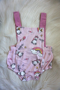 MAGICAL UNICORN ROMPER - BABY PINK