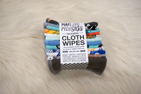REUSABLE CLOTH WIPES 12CT