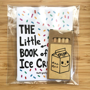Mini Ice Cream coloring book with color pencil set